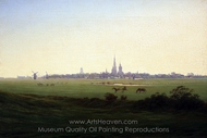 Meadows Near Greifwald painting reproduction, Caspar David Friedrich