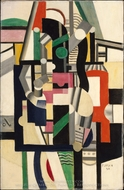 Mechanical Elements painting reproduction, Fernand Leger
