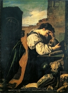 Melancholy painting reproduction, Domenico Fetti