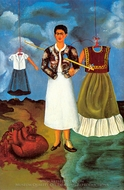 Memory painting reproduction, Frida Kahlo