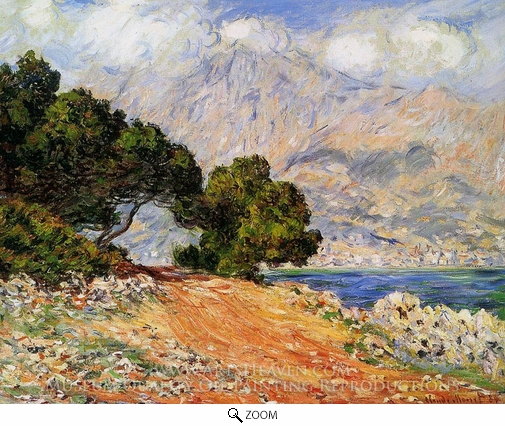 Claude Monet, Menton Seen from Cap Martin oil painting reproduction