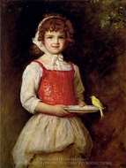 Merry painting reproduction, John Everett Millais