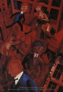 Metropolis painting reproduction, George Grosz