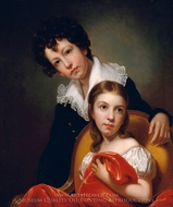 Michael Angelo and Emma Clara Peale painting reproduction, Rembrandt Peale