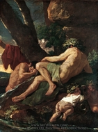 Midas Washing at the Source of the Pactolus painting reproduction, Nicolas Poussin