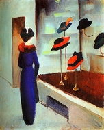 Milliner's Shop painting reproduction, August Macke