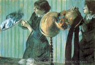 Milliners painting reproduction, Edgar Degas