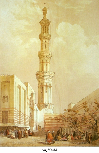 David Roberts, Minaret of the Principal Mosque of Siout oil painting reproduction