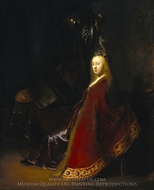 Minerva painting reproduction, Rembrandt Van Rijn