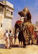 Moguls Elephant painting reproduction, Edwin Lord Weeks