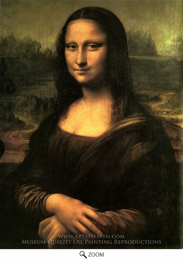 Leonardo Da Vinci, Mona Lisa (La Gioconda) oil painting reproduction