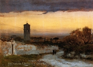 Monastery at Albano painting reproduction, George Inness