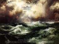 Moonlit Seascape painting reproduction, Thomas Moran