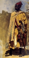 Moorish Guard painting reproduction, Edwin Lord Weeks