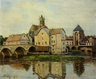 Moret-sur-Loing, Morning painting reproduction, Alfred Sisley