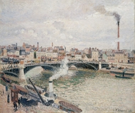 Morning, An Overcast Day, Rouen painting reproduction, Camille Pissarro