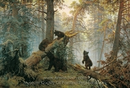 Morning in a Pine Forest painting reproduction, Ivan Shishkin