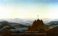 Morning in the Riesengebirge painting reproduction, Caspar David Friedrich
