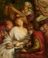 Morning Music painting reproduction, Dante Gabriel Rossetti