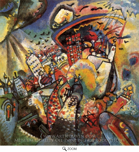 Wassily Kandinsky, Moscow I oil painting reproduction