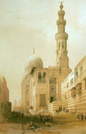 Mosque of the Sultan Kaitbey painting reproduction, David Roberts