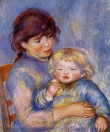 Motherhood (Child with a Biscuit) painting reproduction, Pierre-Auguste Renoir