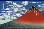 Mount Fuji in Clear Weather painting reproduction, Katsushika Hokusai