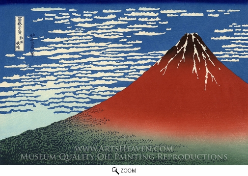 Katsushika Hokusai, Mount Fuji in Clear Weather oil painting reproduction