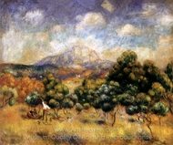 Mount Sainte-Victoire painting reproduction, Pierre-Auguste Renoir