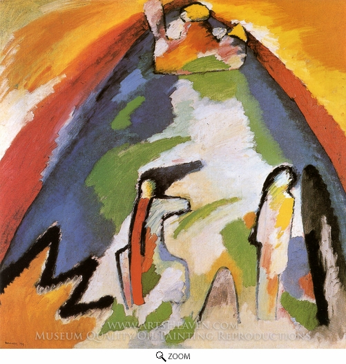 Wassily Kandinsky, Mountain oil painting reproduction