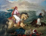 Mounted Greek Warrior painting reproduction, Eugene Delacroix