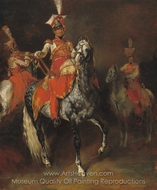 Mounted Trumpeters of Napoleon's Imperial Guard painting reproduction, Theodore Gericault