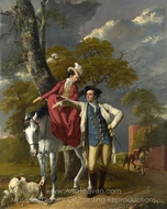 Mr. and Mrs. Thomas Coltman painting reproduction, Joseph Wright of Derby