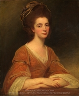 Mrs. Charles Frederick (Martha Rigden) painting reproduction, George Romney