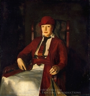 Mrs. Chester Dale painting reproduction, George Bellows
