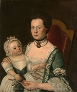 Mrs. Jacob Hurd and Child painting reproduction, William Johnston