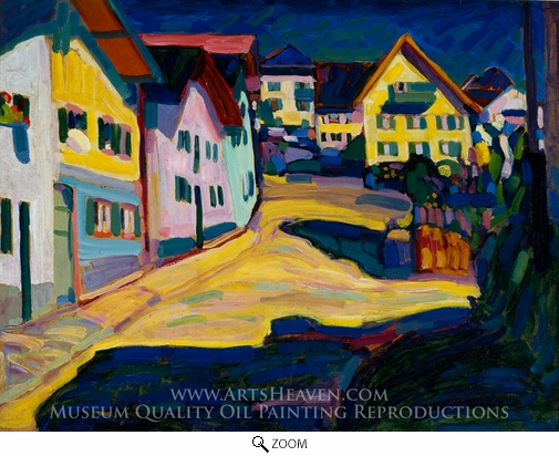 Wassily Kandinsky, Murnau, Burggrabenstrasse oil painting reproduction