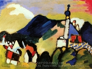 Murnau with Church II painting reproduction, Wassily Kandinsky