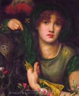 My Lady Greensleeves painting reproduction, Dante Gabriel Rossetti