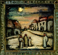Mythical Landscape (Paysage legendaire) painting reproduction, Georges Rouault