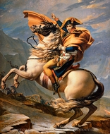 Napoleon at the St. Bernard Pass (Napoleon Crossing the Alps) painting reproduction, Jacques-Louis David