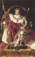 Napoleon I on His Imperial Throne painting reproduction, Jean Auguste Dominique Ingres