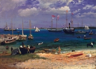 Nassau Harbor painting reproduction, Albert Bierstadt