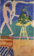 """Nasturtiums with the Painting """"Dance"""" I painting reproduction, Henri Matisse"""