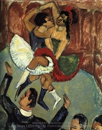 Negro Dance painting reproduction, Ernst Ludwig Kirchner
