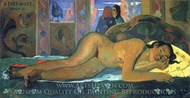 Nevermore, Oh Tahiti painting reproduction, Paul Gauguin