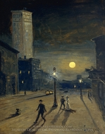 New York at Night painting reproduction, Louis Michel Eilshemius