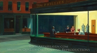 Nighthawks painting reproduction, Edward Hopper