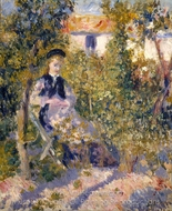 Nini in the Garden painting reproduction, Pierre-Auguste Renoir