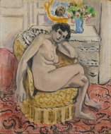 Nude in an Armchair (Nu au fauteuil) painting reproduction, Henri Matisse